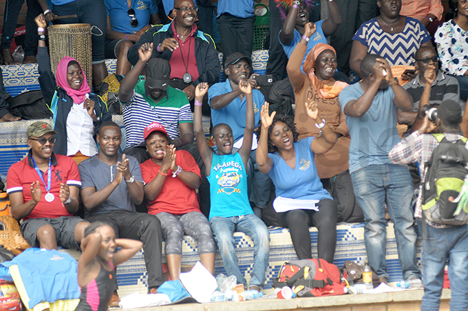 arents cheer on their children during a local swimming event arents will have to fork out for the fines imposed on their children in case they do not make the set time hoto by ichael subuga