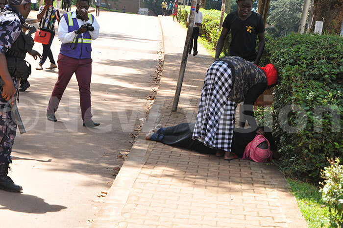 student helps a colleague who is passed out on 23102019