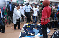 In Pictures:  Kampala ministers visit traders