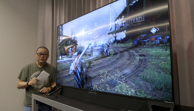 Eyes-on: Nvidia's massive 65-inch BFGD gaming monitors get real with HP's Omen X Emperium