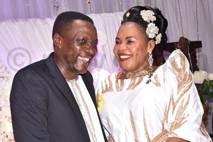 udith abirye and husband aul usoke sebulime on their wedding day