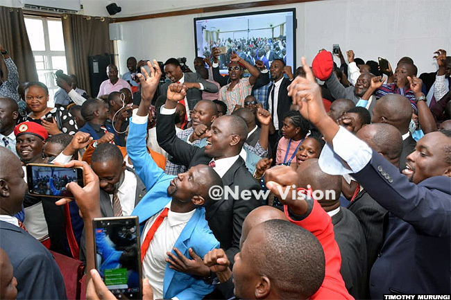 eaction inside court after yagulanyis successful bail application