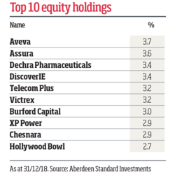 Top 10 equity holdings