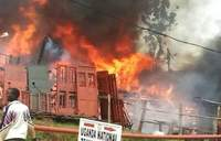 Fire guts factory, property worth millions of shillings lost