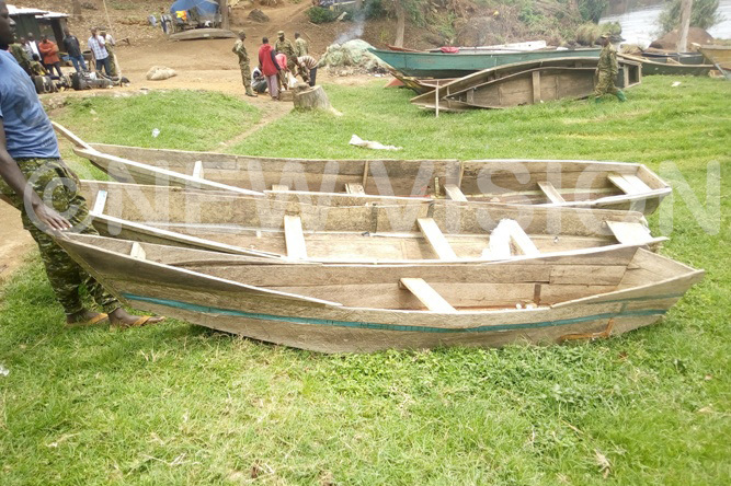 ome of the ao atu canoes that were being used in illegal fishing