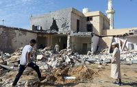 Rockets target Libya airport ahead of regional peace talks