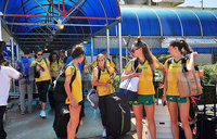 Team arrivals for World Cross Country