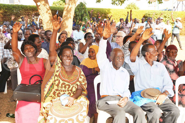 unamwaya residents participating in the  consultative meeting with  and akiso district authorities at unamwaya