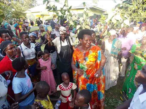 doas supporters camped at all her four homes in erere celebrating her appointment until onday hoto by mmanuel lomu