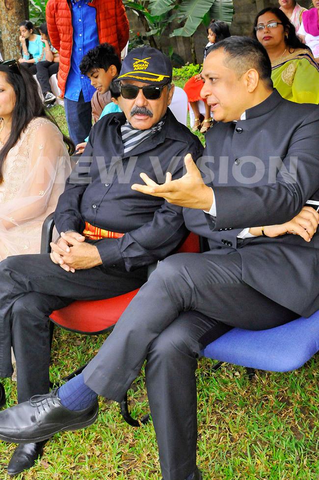 apt bhoy garwal listens to the igh ommissioner hri avi hankar during the celebrations