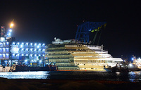 Italy cruise ship turned upright in unique salvage
