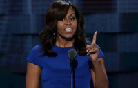 Michelle Obama delivers glowing endorsement of Clinton