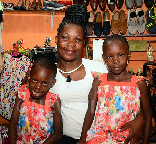 renda akaggwa with her twins esty abirye and uth akato