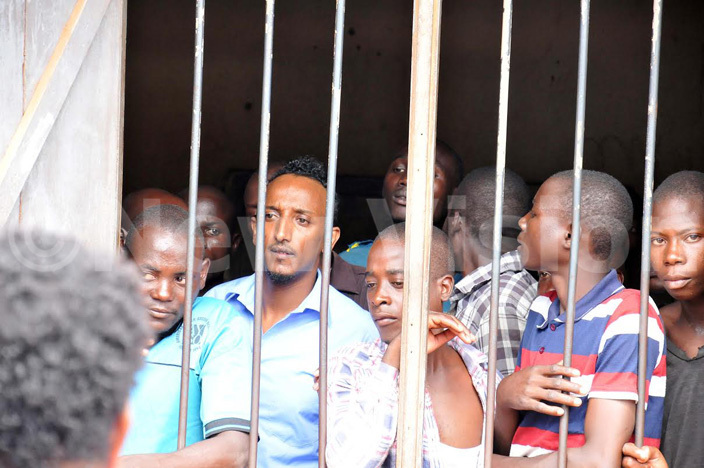 ermon abtemicael with other prisoners at the court cell after judgment