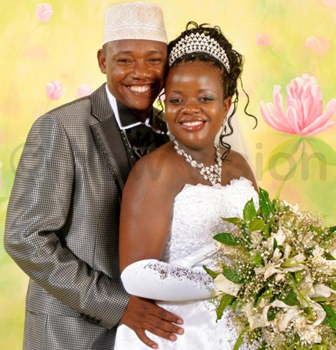 inger aruna ubiru and tella takke auda after their wedding