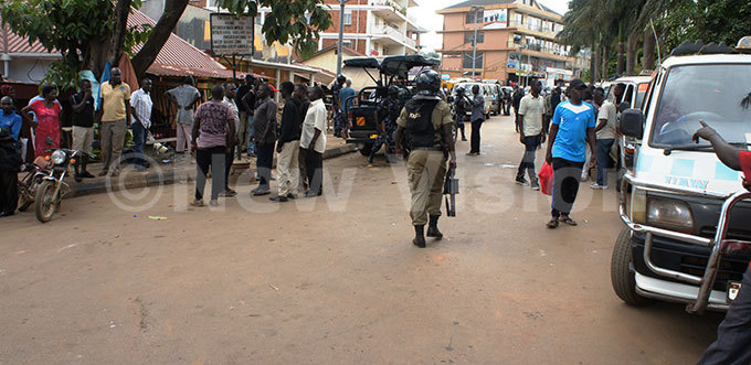 olice was forced to fire teargas to disperse taxi operators who had turned rowdy  hoto by ulius uwemba
