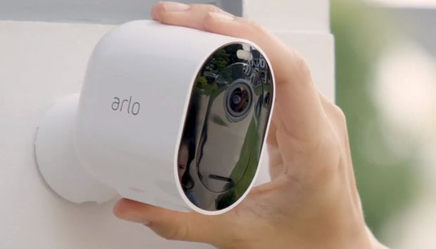 The Arlo Pro 3 security camera boasts 2K resolution, color night vision, and a 160-degree field of view