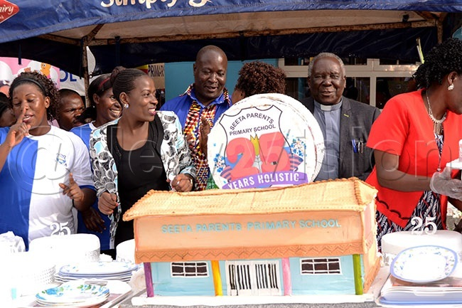 he nniversary cake that was cut during the celebrations hoto by ovita irembe