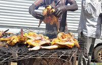 Tasty chicken at a market day in Katakwi