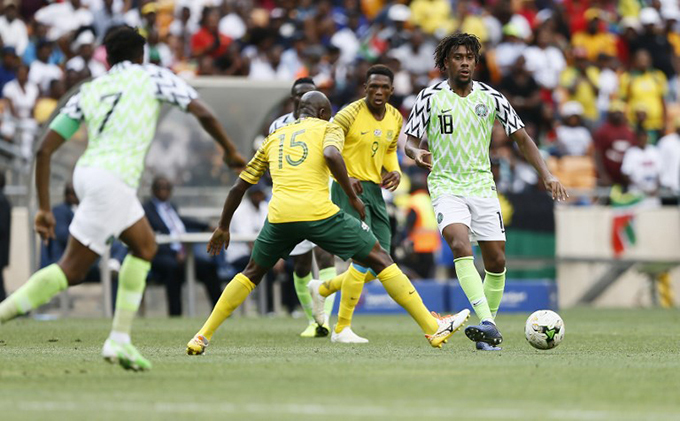 outh frica and igeria played out a friendly on aturday in ohannesburg  hoto