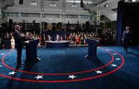 Biden says will accept vote result, Trump deflects