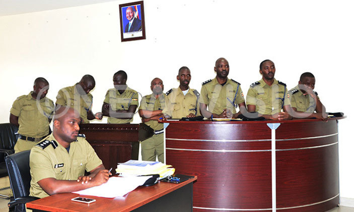 olice officers before the olice disciplinary standby ourt