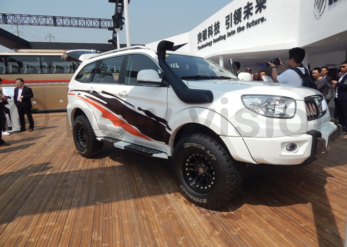 n offroader produced by oton otor roup on display at the eijing nternational utomotive xhibition hoto by addeo wambale