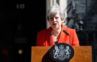 British PM May announces resignation in emotional speech