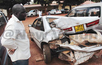 Kenyan driver held for smashing car in Lira