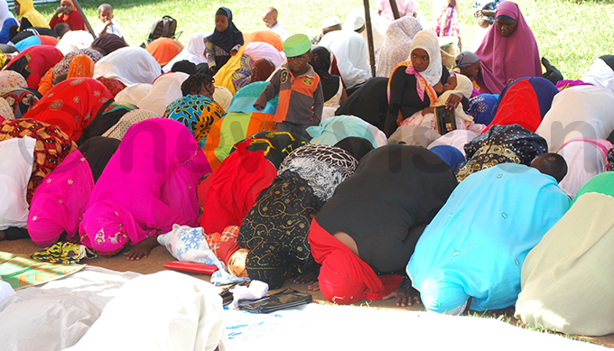 uslim women during id ldha prayers at agadi osque in agadi district hoto y ndrew usinguzi