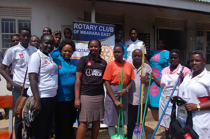 otary lub of barara ast members with staff of the health centre after handing over assorted items hoto by dolf yoreka