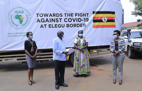 Uganda border points get sh90m medical supplies to fight COVID-19
