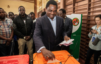 Zambia presidential challenger alleges election fraud