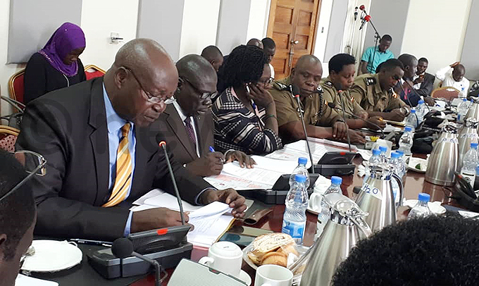 inister imon janga left while appearing before arliaments natural resources committee hoto by aria amala