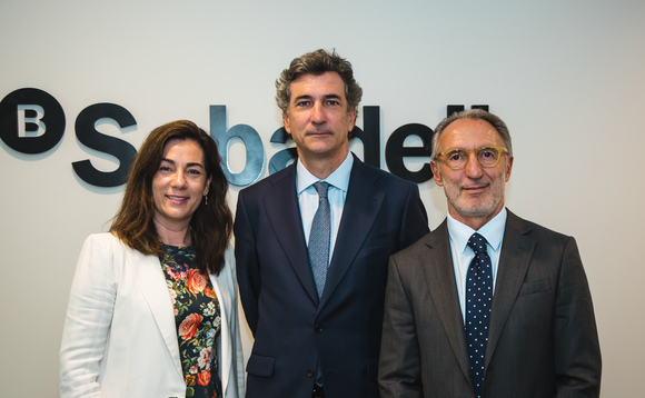 Ana Ribalta, Banco Sabadell's deputy general director and director of Global Corporate Banking & EMEA; José Nieto, deputy general director and director of Corporate & Investment Banking at Sabadell; and Santi Tiana, Portuguese branch director