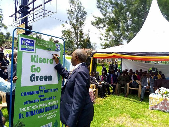 he rime inister uhaka ugunda launches the isoro go green campaign