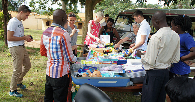 and her team took a huge donation of materials to the  orphanage redit ulius uwemba