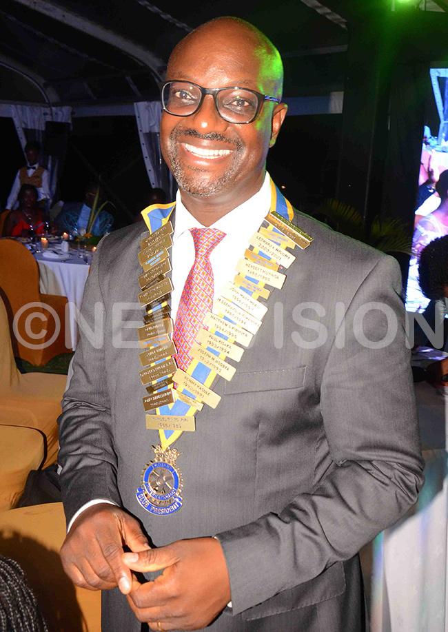 he new president of uyenga otary lub ouglas sendagire abenge