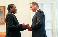 Amb. Tibaleka presents credentials to Polish President