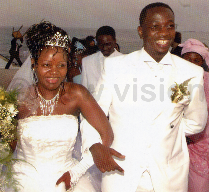 yagulanyi and his wife alia after exchanging vows