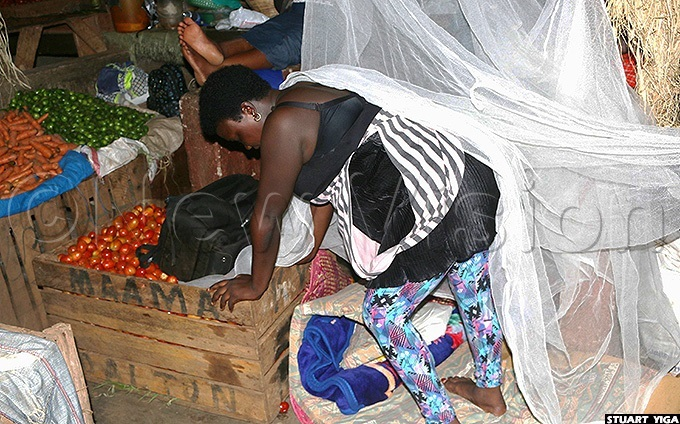 yarisiima has been sleeping in the market with her merchandise despite being close to nine months pregnant