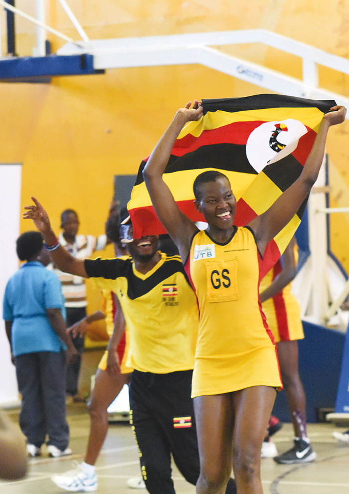 eace roscovia has inspired he ranes to two frica etball hampionships icture y palanyi sentongo