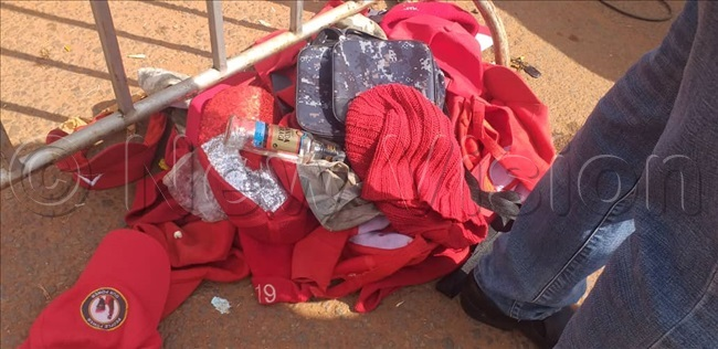 eople power attires banned in nkuuka hose who came with red people power caps bungles tshirts etc have been barred from entering with them
