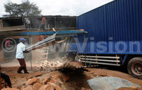 Eight cheat death as lorry rams into commercial building