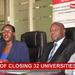 Impact of closing 32 universities