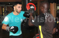 Russian boxer trains in Kampala ahead of fight