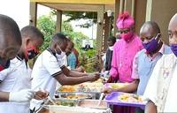 Kaziimba hosts journalists to a sumptuous lunch