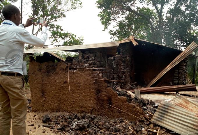 house that was burnt down in usaru ub ounty hoto by eoffrey utegeki