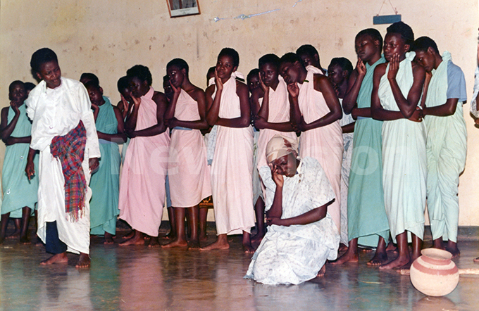 anyange tudents performing during inter house competitions