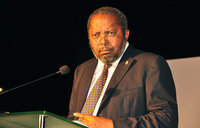 Uganda shilling firms slightly